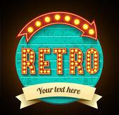 Retro motel sign — Stock Vector