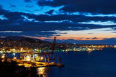 Vigo at night — Stock Photo