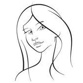 Meisje met lange haren — Stockvector