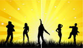 Dancing people — Stock Vector