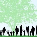 Big family silhouettes — Vetorial Stock  #51136523