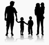 Birlikte mutlu aile — Stok Vektör