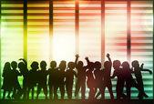 Dancing group — Stock Vector