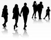 Grupp människor — Stockvektor