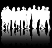People silhouettes — Vettoriale Stock