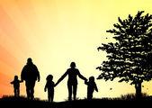 Family outdoors summer — Stock Vector