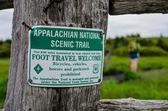 Appalachian National Scenic Trail Sign — Stock Photo