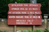 Appalachian Trail Approach Sign — Stock Photo