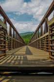 AT Bridge over the James River — Stock Photo
