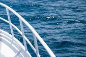 White Railing Over the Atlantic Ocean — Stock Photo
