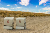 Beach Chair at baltic sea — Stock Photo