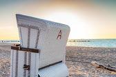 Beach Chair at baltic sea — Stock Photo