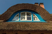 Thatched Roof Window — Stock Photo