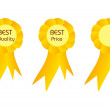 Best quality and price golden ribbons — Stock Photo #51066745