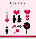 Love Icons — Stock Photo