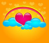 Sweet heart in clouds — Stock Photo