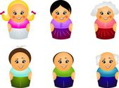 Set of different ages — Stock Photo