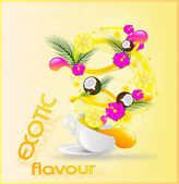 Exotic flavour card — Stock Photo