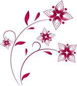 Pink floral ornaments — Стоковое фото
