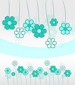 Blue floral background — Stock Photo