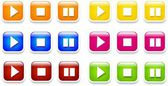Play buttons — Stock Photo