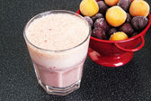 Cherry milk shake in a glass cup — Stockfoto