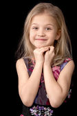 Seven year old blonde girl — Stock Photo