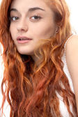 Portrait of a red haired girl — Stock Photo