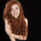 Beautiful smiling red haired girl  — Stock Photo
