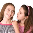 Two girls in the age of ten talking and dreaming — Stock Photo #51787749