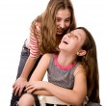 Two joyful teenagers girls isolated on white — Stock Photo #51787779