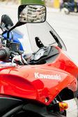Red Kawasaki Motorcycle. — Stock Photo