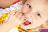 Cheerful little girl — Stock Photo