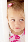 Little blonde girl — Stock Photo