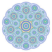 Round ornamental geometric design — Stock Vector