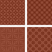 Brown seamless pattern set — Stock Vector