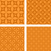 Orange seamless gothic pattern set — Stock Vector