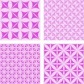 Magenta seamless wallpaper set — Stock Vector