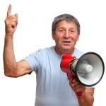 Man with megaphone — Stock Photo #50882095