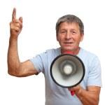 Man with megaphone — Stock Photo #50882099