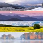 Set of the 4 seasons landscape — Stock Photo #50885723