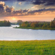 Beautiful summer landscape on the river — Stock Photo #50886271