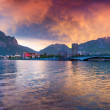 Sunset in the Lecco Lake — Stock Photo #50886721