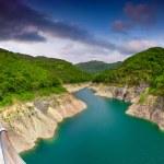 View from the bridge over the lake Valvestino — Stock Photo #50886795
