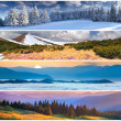 Set of the 4 seasons landscape — Stock Photo #50887243