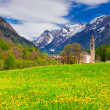 Landscape with church in Borgonovo village — Stock Photo #50888053