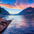 Sunset in the Lecco Lake — Stock Photo #50889329