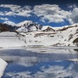 Постер, плакат: Lake on the pass Col De Vars Alps France