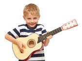 Amazing boy playing guitar — Foto de Stock
