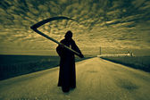 Grim Reaper on the road — Stock Photo